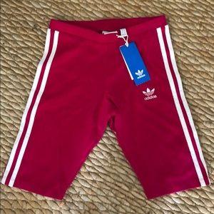 Brand new adidas pink cycling shorts
